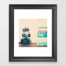 Lou and Camera Framed Art Print