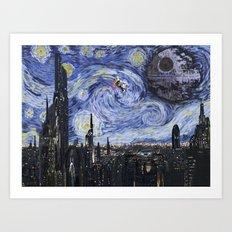 A Starry Wars Night Art Print