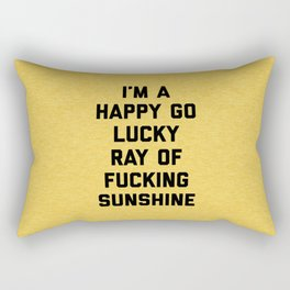 Ray Of Fucking Sunshine Funny Quote Rectangular Pillow