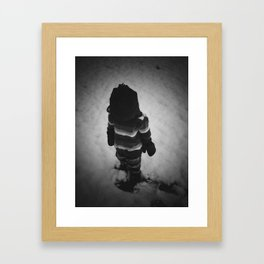 Boy In Snow #3 Framed Art Print