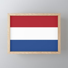 flag of netherlands Framed Mini Art Print
