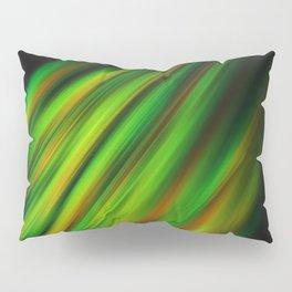 Colorful neon green brush strokes on dark gray Pillow Sham