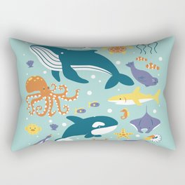 Sea Animals Rectangular Pillow