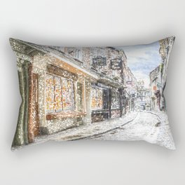 The Shambles York Snow Art Rectangular Pillow