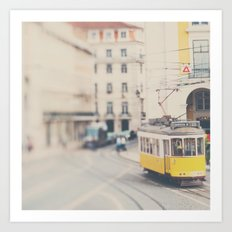city trams ...  Art Print