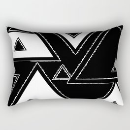 Triangle black and white Rectangular Pillow