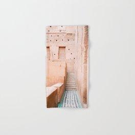 Colors of Marrakech Morocco - El badi palace photo print | Pastel travel photography art Hand & Bath Towel