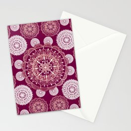 Berry and Bright Patterned Mandalas Stationery Cards