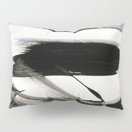 Brushstroke 9: a bold, minimal, black and white abstract piece Pillow Sham