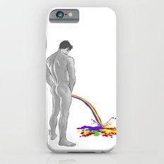 Rainbow pee iPhone 6 Slim Case