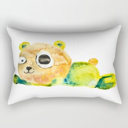 unconscious teddy bear Rectangular Pillow