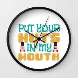 Sex Christmas Nuts Nutcracker Blowjob Gift Wall Clock