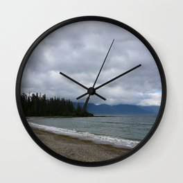 Low Clouds over the Bay Wall Clock