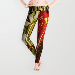abstraction. fireworks Leggings