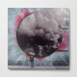 Clouded Judgment-Surreal Collage Metal Print