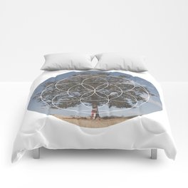 Free Tree Hugs - Geometric Photography Comforters