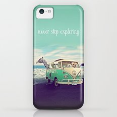 NEVER STOP EXPLORING THE BEACH Slim Case iPhone 5c