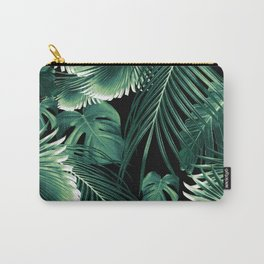 Tropical Jungle Leaves Dream #6 #tropical #decor #art #society6 Carry-All Pouch