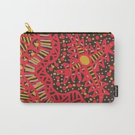 Doodle 16 Red Carry-All Pouch