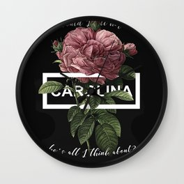 Harry Styles Carolina graphic artwork Wall Clock