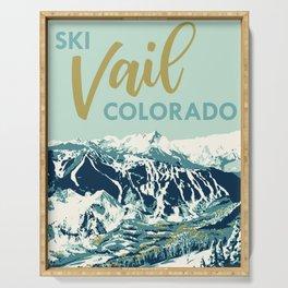 Vail Ski Light Blue Serving Tray