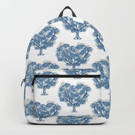 grey and blue tree pattern Backpack