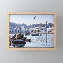 Muttrah Fish docks - Muscat, Oman Framed Mini Art Print