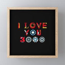 I Love You 3000 Framed Mini Art Print