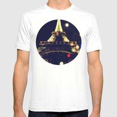 Paris by night White MEDIUM Mens Fitted Tee