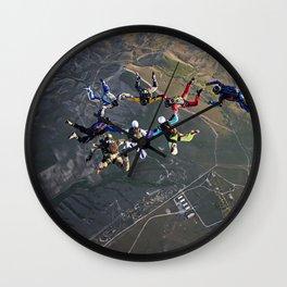 Sky Divers Wall Clock