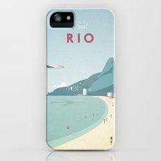 Vintage Rio Travel Poster iPhone (5, 5s) Slim Case