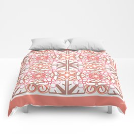 Gender Equality Tiled- Peach Comforters