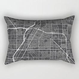 Las Vegas Map, USA - Gray Rectangular Pillow