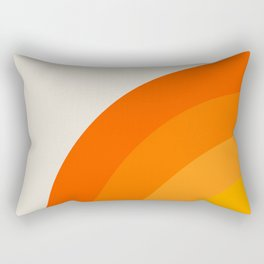 Sunrise Rainbow - Left Side Rectangular Pillow