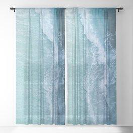 Turquoise Sea Sheer Curtain