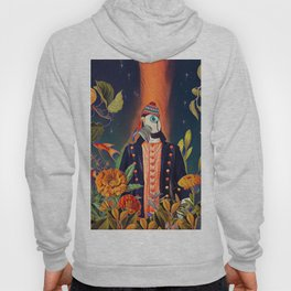 Floral Puffin Hoody