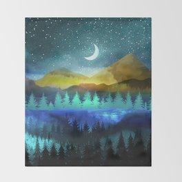 Silent Forest Night Throw Blanket
