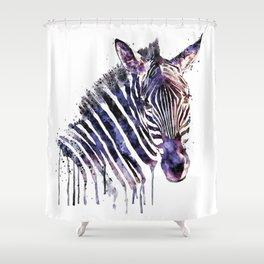 Zebra Head Shower Curtain