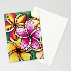 Plumerias Stationery Cards