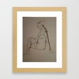 Seated Figure Framed Art Print