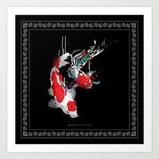 KOI X BANDANA Art Print