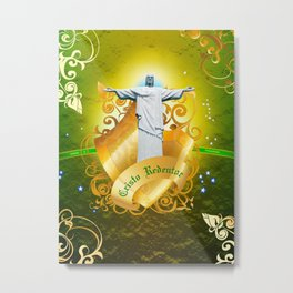 The Cristo Redentor Metal Print