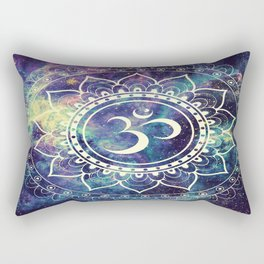 Om Mandala : Deep Pastels Galaxy Rectangular Pillow
