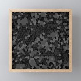 Black Polycamo Framed Mini Art Print