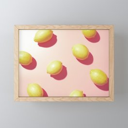#03_Lemons in pink Framed Mini Art Print