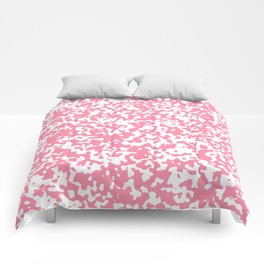 Small Spots - White and Flamingo Pink Comforters