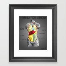 Android/Cyborg Anatomy Framed Art Print