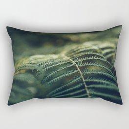 Green and Golden Rectangular Pillow