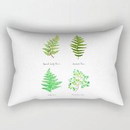 fern collection watercolor Rectangular Pillow