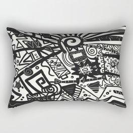 Black and White Maze Rectangular Pillow